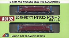 Microace a0192 JR Electric Locomotive ED75, 2 pc set, n scale, ships from USA