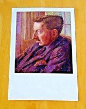 NATIONAL PORTRAIT GALLERY POSTCARD ~ E.M. FORSTER BY DORA CARRINGTON, 1920 ~ NEW