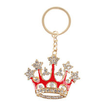 Red King Crown Pendant Charm Chain Crystal Purse Bag Key Ring Accessories Gift