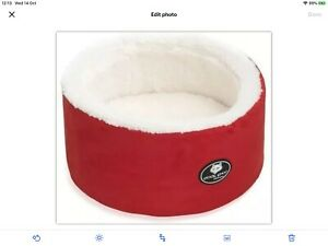 Cat Bed RED Super Soft Warm Washable Bulk 40 Off