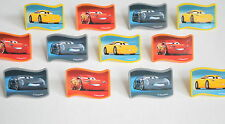 12 Disney Cars 3 Movie Cup Cake Rings Topper Party Goody Bag Filler Favor Supply
