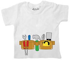 Dirty Fingers Baby Junge T-Shirt Bauherr Heimwerker Werkzeug Gürtel Kit Hammer