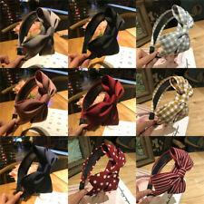 Fashion Ladies Striped Knot Grid Hairband Headband Hair Head Band Accessories