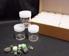 Rock Mineral Fossil Gemstone Crystal Agate Tube Storage Box Organizer + 28 Tubes