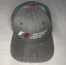 United States Formula 1 2015 Grand Prix Racing Snap Back Hat Gray Red One Size