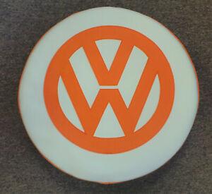 Madmatz Volkswagen VW T2 BAY Window Spare Wheel cover Off White / orange