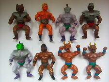8 Vintage MOTU KO Bootleg Toy Figures Galaxy Fighters Warriors Sungold Sewco etc