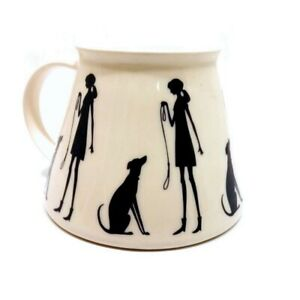 Collari No Spill Ceramic Travel Mug - Hare & Dog Walking Design WAS £22.00