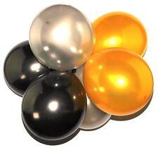 paquet of63.5cm 30.5cm latex perle doré noir argenté ballons mariage fête hélium