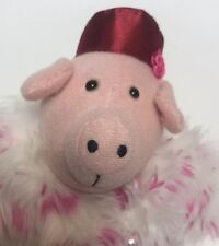 OPI Pink Diva Pig with Fur Coat Red Hat High Heels Tall Plush Soft Gift