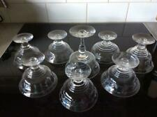 8 ART DECO ANTIQUE RETRO VINTAGE STUART CRYSTAL ETCHED SWEET BOWLS DELICATE MIX