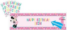 Minnie Mouse 1st Birthday Party Personalized Giant Banner Kit Over 5 Feet Wide