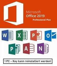 Microsoft Office 2019 Professional Plus   Key   ESD   1 PC   Vollversion   DE
