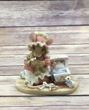 """1995 Enesco Mouse Tales Figurine """"Hush, My Baby, My Doll"""" #160687"""