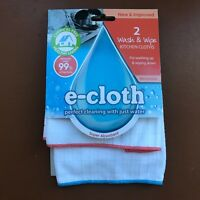 e-cloth WASH & WIPE Kitchen Cloth For Washing Up & Wiping Down - Pack of 2