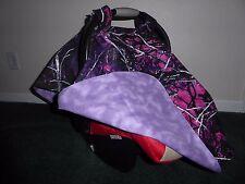 **MOONSHINE MUDDY GIRL** Camo  Handmade Baby Infant Car Seat Canopy-Cover