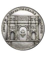 Medaille coprs expéditionnaire Français bronze argenté