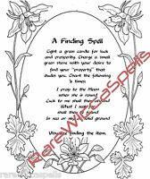 Finding Lost Objects Spell Wicca Book of Shadows Magick Pagan Occult Ritual