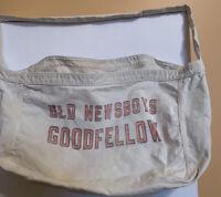 Vtg 1950s Old Newsboys Goodfellows  Newspaper Canvas Paperboy Bag Detroit MI