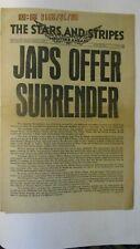 WW2 STARS AND STRIPES NEWSPAPER
