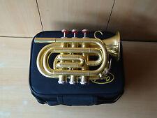 COMPRALO SUBITO! NUOVA Finitura Ottone BB Tasca trumpet+free rigido CASE+M / P