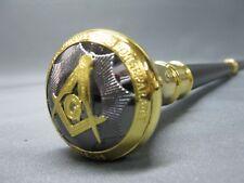 Gehstock golden  Freimaurer Masonic Templer Tempelritter  93 cm Geheimfach