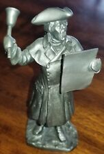 The Danbury Mint American Series Fine Pewter The Town Crier Figurine