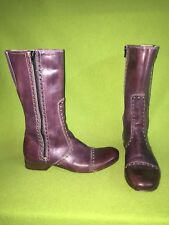 Eggplant We Are The Original Double Zipper Boots 6 36