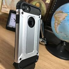 iPhone 7 Rugged Tough High Density Case Impact Displacement System Bumper Silver