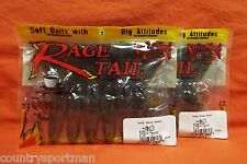 "STRIKE KING Rage Tail 4"" Rage Space Monkey (6 cnt)(2 pks) #RGSM-109 DoubleHeader"