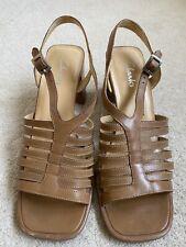 Beige Clarks Ladies Sandals Size 6