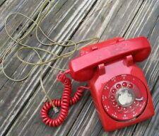 - Untested - Vintage Red Northern Telecom Desktop Rotary Telephone Parts/Repair
