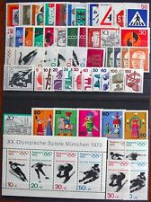 Germany Complete Year 1971 Stamp Set w/ SS Mint Never Hinged MNH German Stamps