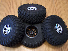 Axial Wraith Rock Racer 2.2 Ripsaw Tires Raceline Renegade Chrome Wheels / Spawn