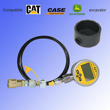 10000PSI Digital Hydraulic Pressure Test coupling&Gauge Boot Kit for Caterpillar