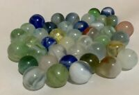 Lot of 41 vintage glass marbles