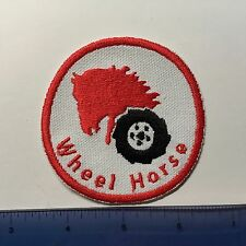 Wheel Horse Garden Lawn Tractor Patch iron on sew on art logo decal insignia red