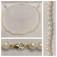Perlencollier 585 Gold Verschluß Perlen Perlenkette