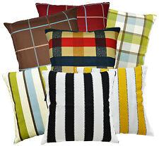 High Quality Cotton Canvas Checker Stripe Cushion Cover/Pillow Case Custom Size