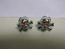 HIGHWAY HAWK SKULL AND CROSS BONES RED EYES CHROME BOLT WITH M6 /NUT BC31586 -T