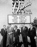 Rat Pack Dean Martin Frank Sinatra Sammy Davis Jr. Las Vegas Sands 8 x 10 Photo