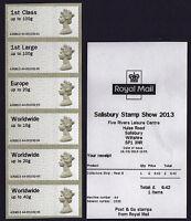 SALISBURY 2013  MACHIN 6xNVI A4 COLLECTORS STRIP Post & Go