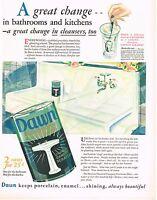1920s BIG Vintage Dawn Cleaner Kitchen Decor George Illian Art Deco Print Ad