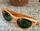Vintage Sunglasses - Rupert Design Light Brown Color Frame Green Lenses - France