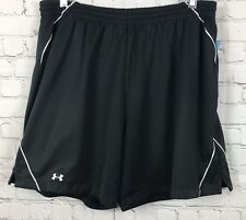 Hurley Under Armour Mens Black Athletic Shorts Size L Lined