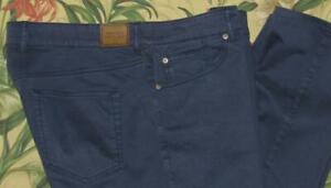 PETER MILLAR Blue Sateen 5 Pocket Chino Pants 38 x 31