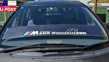 M Motorsport Windshield Against Sun Reflect Car Sticker BMW X 3 5 Z Series 130cm