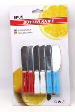 6 Pcs Butter Knife Cutting Spread Kitchen Chef Cooking Tool Spreader Stainless