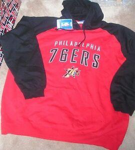 NEW NBA Philadelphia 76ers Sixers Hoodie Hooded Sweatshirt Men S Small NEW NWT