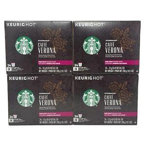 STARBUCKS Caffe Verona Coffee K-Cups Dark Roast 96 ct Best By 12/2019